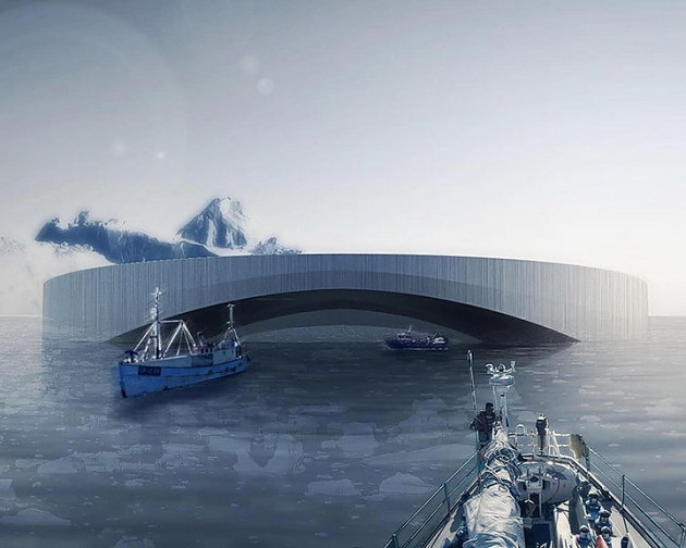 плавучий арктический город