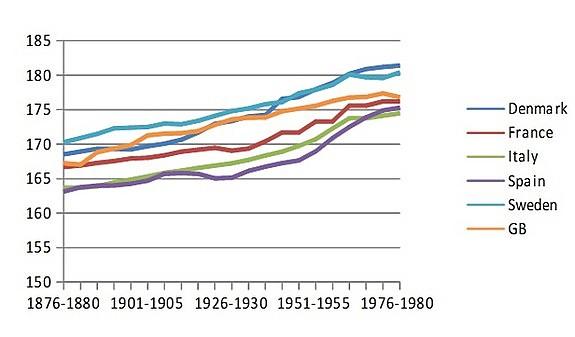 динамика увеличения роста