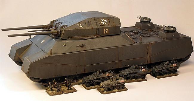 Модель танка landkreuzer p 1000 ratte