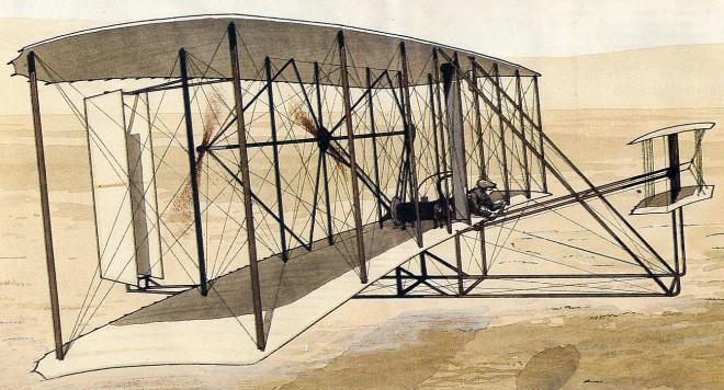 первый в мире самолёт.
