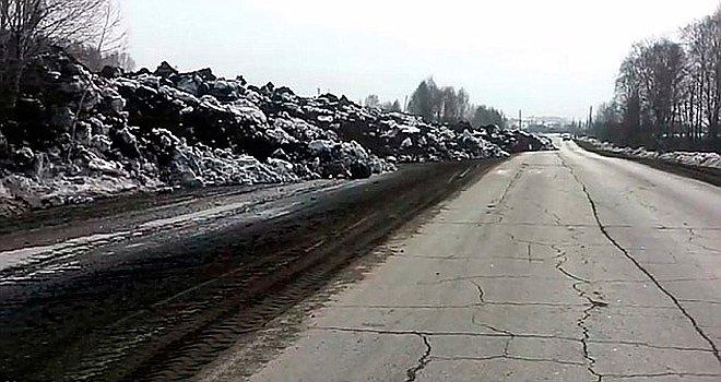 Оползень в Кемеровской области