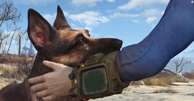 Fallout4 and dogmeat