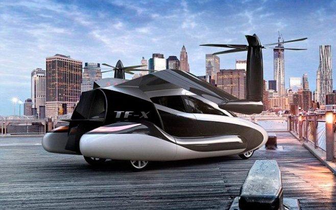 В 2018г появится 1-ый летающий автомобиль