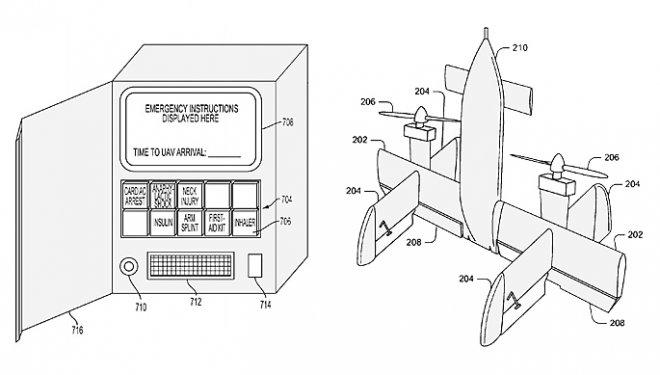 Google запатентовала систему вызова спасательного дрона