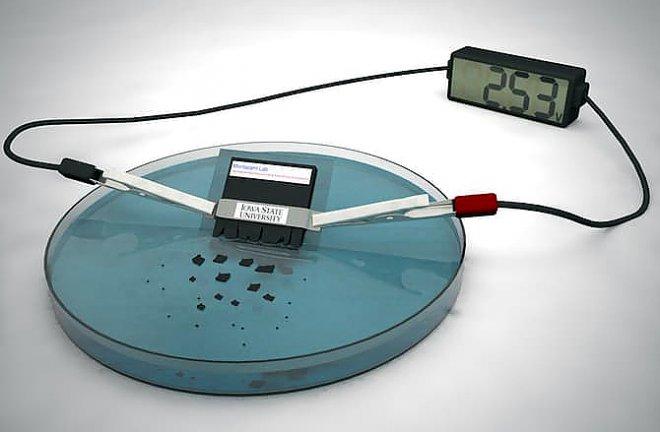 Самоуничтожающийся аккумулятор за 30 минут полностью растворится в воде