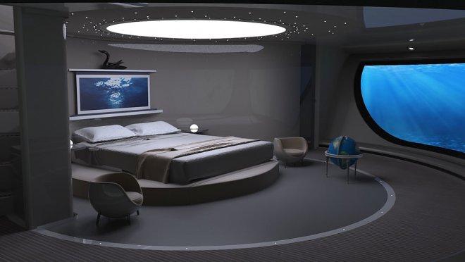 Мини-яхта НЛО 2.0, спальня