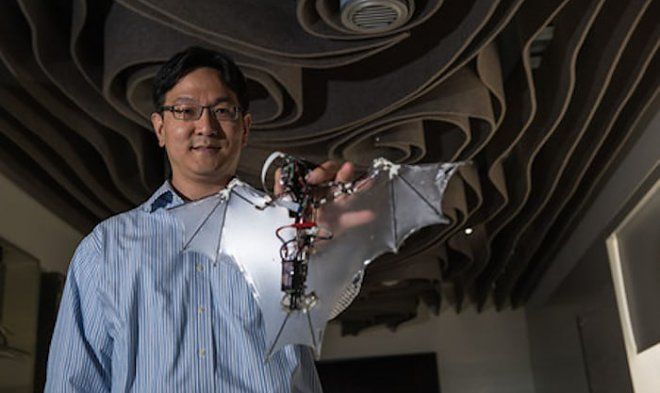 Инженеры разработали робот-беспилотник, который похож налетучую мышь