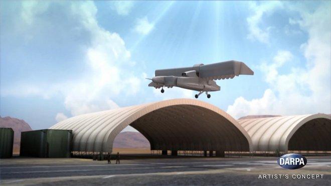 DARPA испытало беспилотник свертикальным взлетом X-Plane