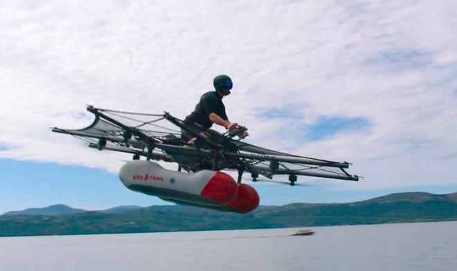 Основатель Google продемонстрировал новое устройство для полетов над водой