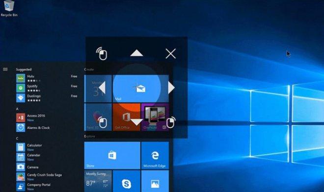Компьютерами набазе Windows 10 можно будет управлять взором