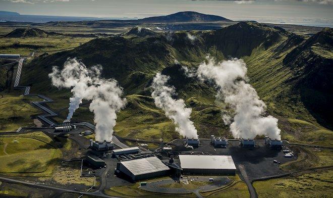 Геотермальная станция вИсландии перешла на негативные выбросы