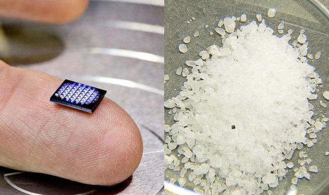 IBM представила самый маленький в мире компьютер размером с крупинку соли