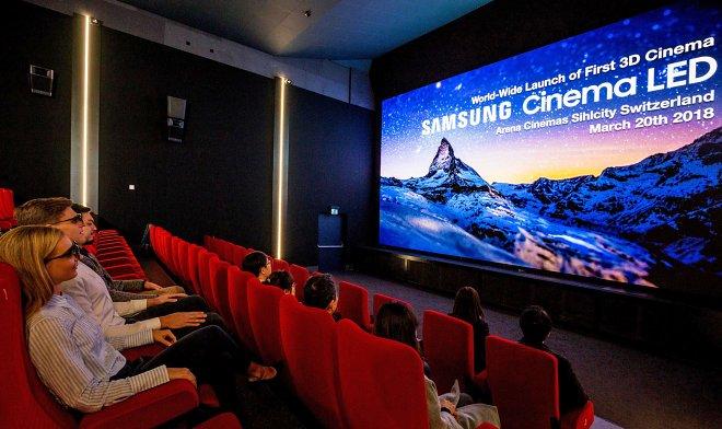 В Швейцарии открылся первый в мире 3D-кинотеатр со светодиодным экраном