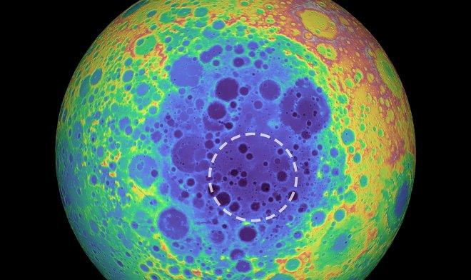Объект под поверхностью Луны