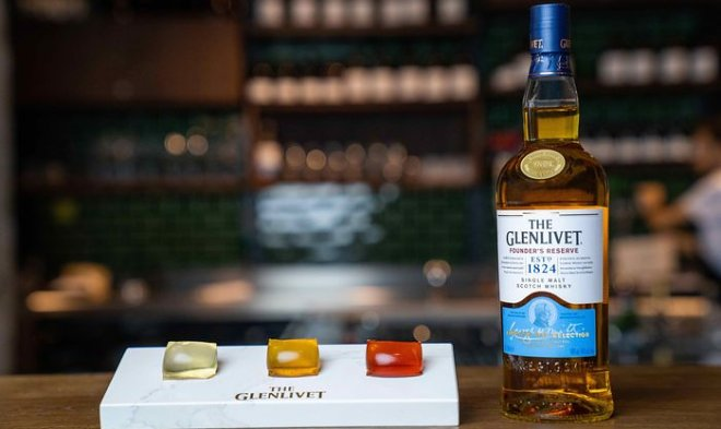 Старинный шотландский бренд Glenlivet выпустил виски в виде съедобных капсул