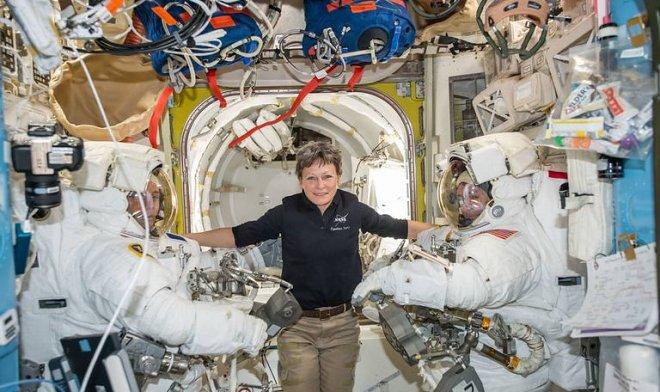 Астронавты на МКС