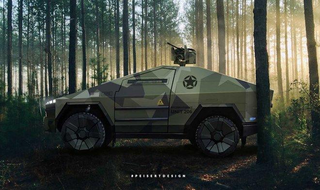 Концепт Ultimate Tactical Combat Cybertruck