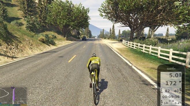 Велотренировка в игре