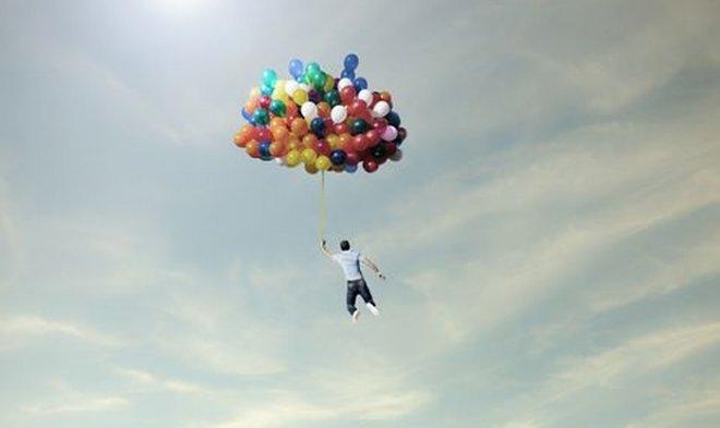 Полет на воздушных шариках