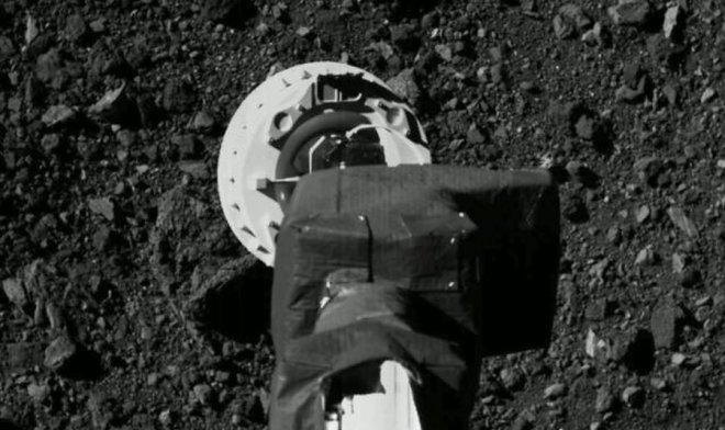 NASA опубликовало историческое видео забора грунта c астероида Бенну