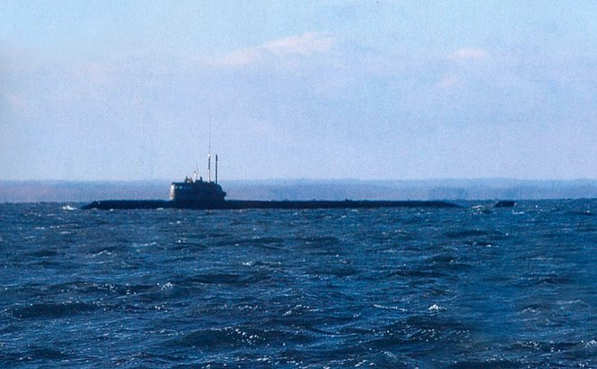 One of the photos, which shows the AS-12 submarine