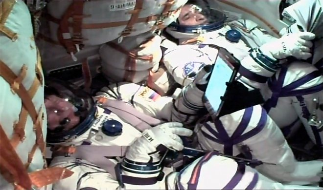 The tablet becomes part of the ISS