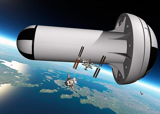 ISS of the future with artificial gravity