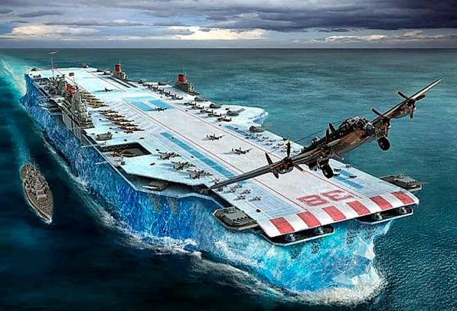 Iceberg-aircraft carrier