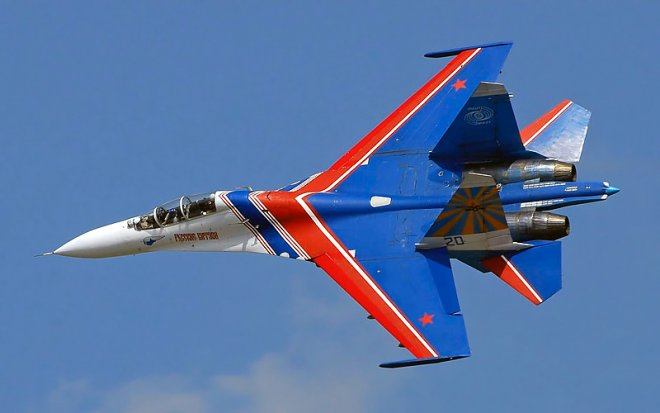Su-27 from the Squadron Russian Knights