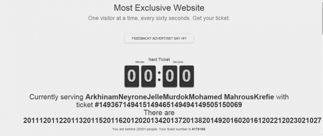 The most exclusive site