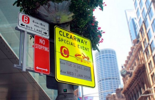 Road signs in Sydney