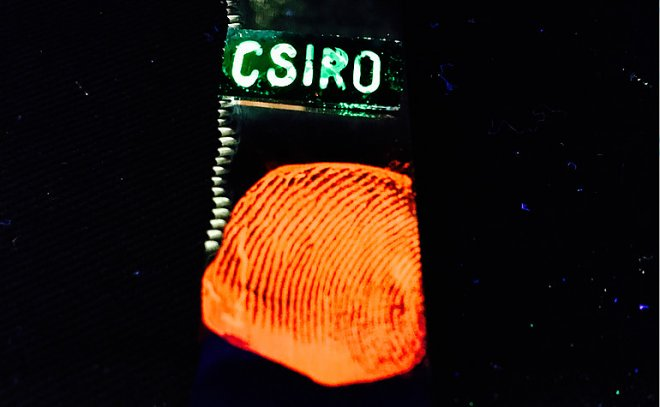 Now the fingerprints are glowing