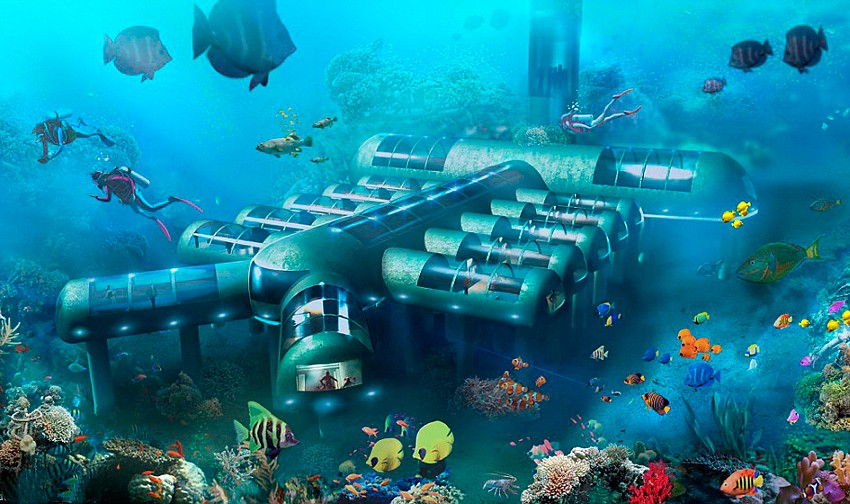 Картинки по запросу подводный отель планета океан