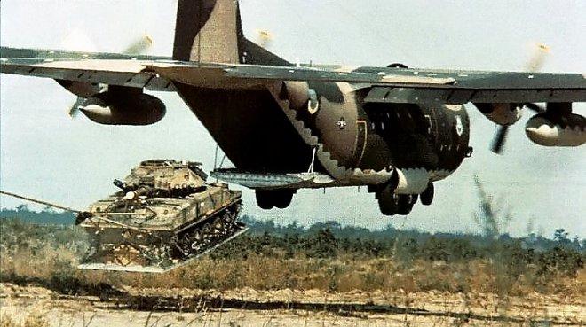 Landing a tank