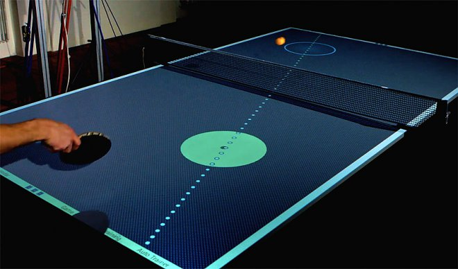 Table for ping-pong table
