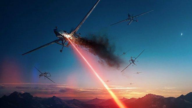 Laser against drones