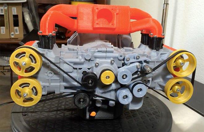 3D-модель двигателя EJ20