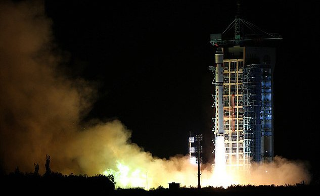 Launch of a rocket with a satellite