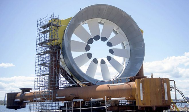 Turbine of tidal generator