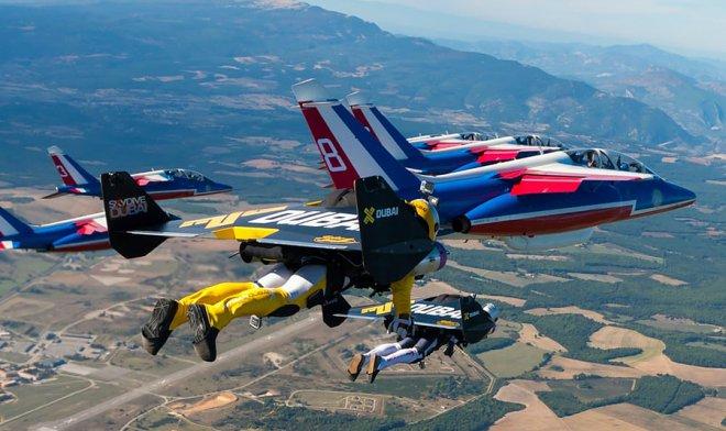Team in flight