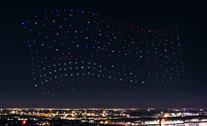 The show with the drones of Lady Gaga