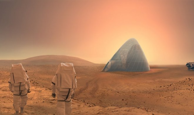Martian printed houses
