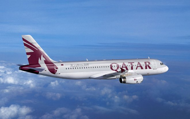Лайнер компании Qatar Airways