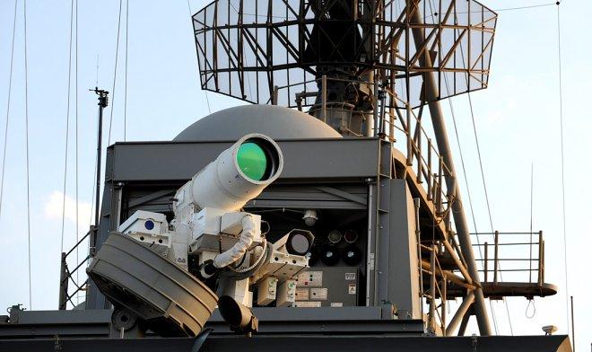 Battle laser during the test