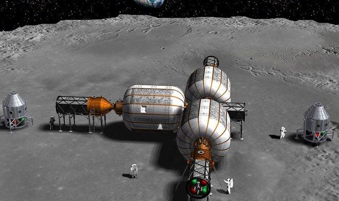 США объявили запуск строительства жилой базы на орбите Луны