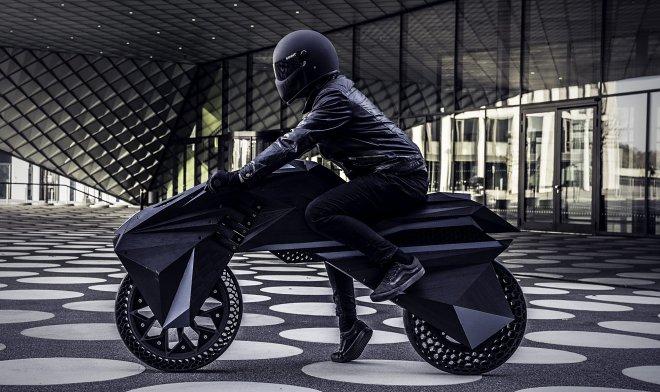 Nera — первый в мире электромотоцикл, целиком напечатанный на 3D-принтере