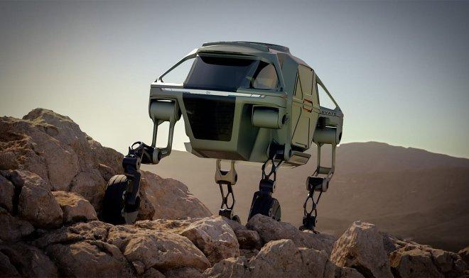 Концепт «шагомобиля» Hyundai Elevate вышел из тени