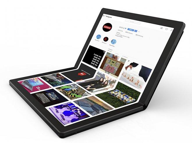 Lenovo объявила о разработке первого в мире складного компьютера