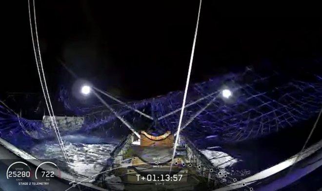 SpaceX намерена ловить падающие части ракет гигантской сетью