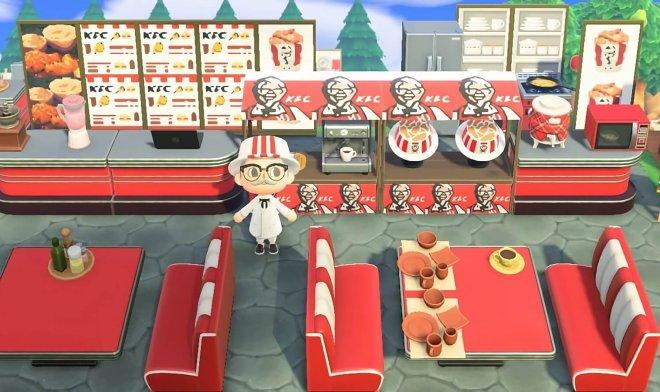 KFC открыла ресторан в мегапопулярной видеоигре Animal Crossing